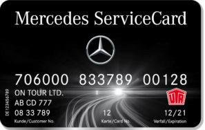 Карты Mercedes Service
